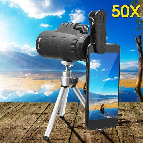 50X Universal Outdoor Optical Zoom Mobile Phone Camera Monocular Telescope Lens + Tripod