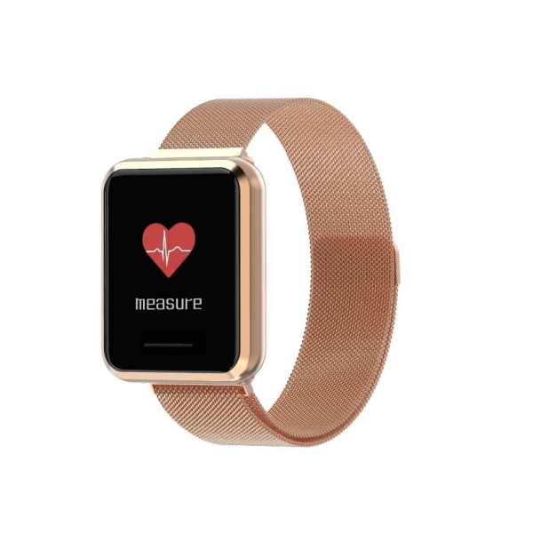Q9 Smart Watch Blood pressure Metal Shell Waterproof Smart band Men & Women Gold