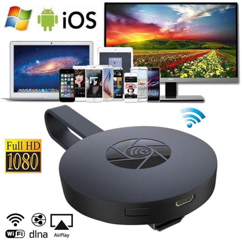 Wireless Dongle Miracast Airplay DLNA WiFi 1080P HD Media