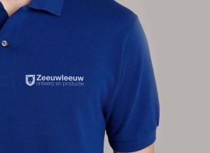 blauw polo shirt met zeeuwleeuw logo