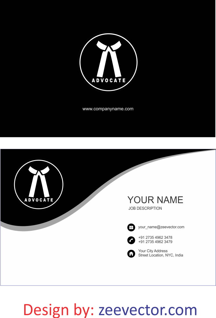 Advocate Visiting Card Vector (.cdr) File - FREE Vector Design ...