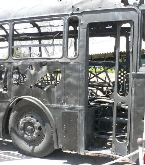 אוטובוס הדמים בכביש החוף (צילום: ויקישיתוף)
