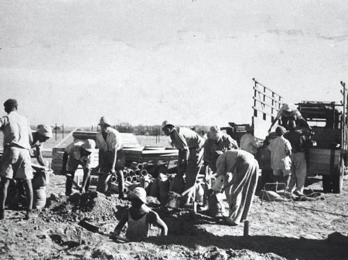 כפר דרום ביום העליה  לקרקע 1946