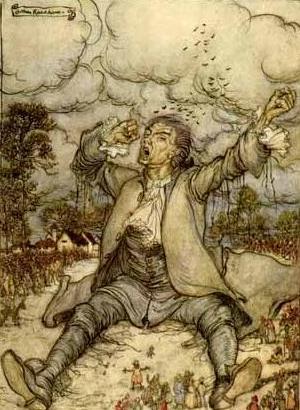 גוליבר בליליפוט. ציור מאחת המהדורות הראשונות של הספר.