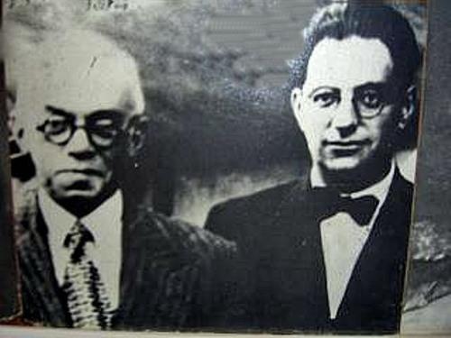 פון ויזל בפגישה עם ז'בוטינסקי (באדיבות מכון ז'בוטינסקי)