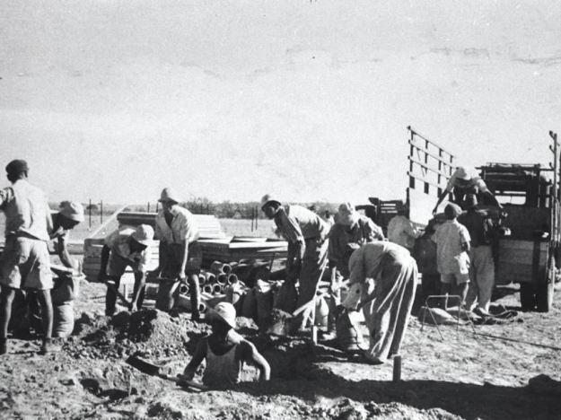 העליה לקרקע בכפר דרום 1946 - האיזור ריק