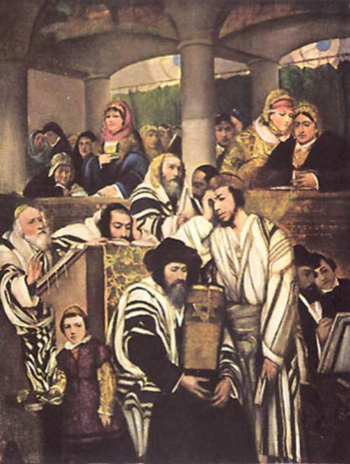 מאוריצי גוטליב תפילת יום בכיםורים  1878