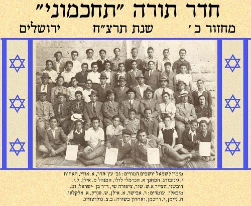 המורים והתלמידים של תחכמוני בירושלים תרצח המחזור של עמוס עוז