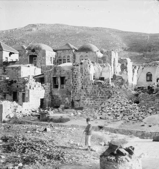 שכם אחרי רעידת האדמה 1927 ב