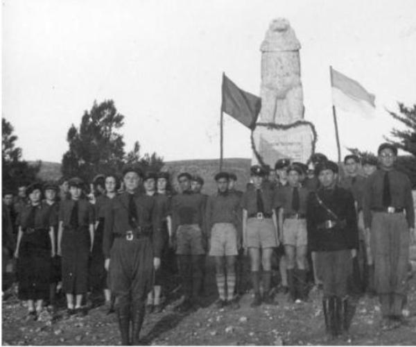 מסדר ביתר בתל-חי 1929 (באדיבות  מכון ז'בוטינסקי)