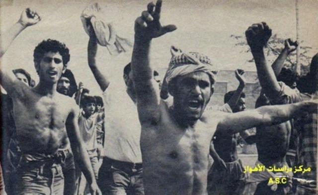 ערבים מפדינים נגד השלטון האיראני בחוזיסטאן