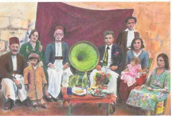 משפחה יהודית בחלב בשנות הארבעים