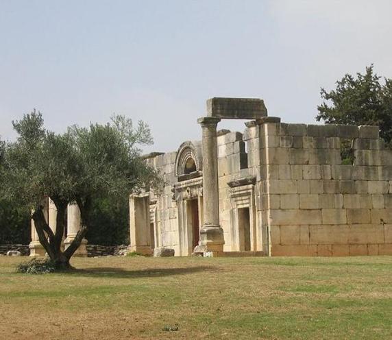 בית הכנסת מתקופת המשנה בברעם צילום אילן גד ויקיפדיה