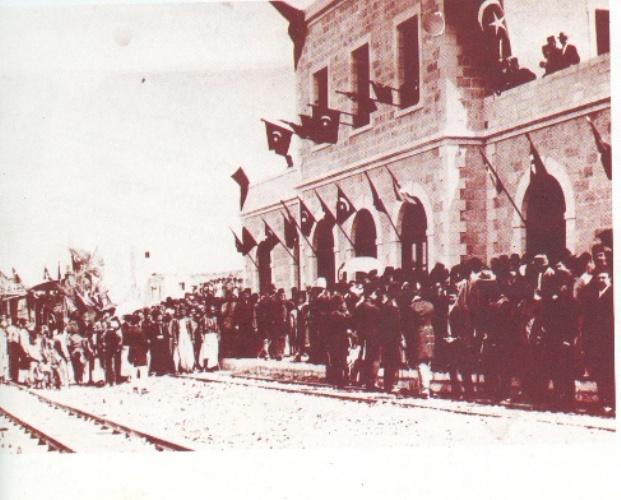 טקס קבלת הפנים לרכבת הראשונה לירושלים