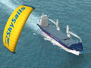 In the coming year the first cargo ship will reportedly cross the oceans equipped with the SkySails-System. Image Credit: SkySails