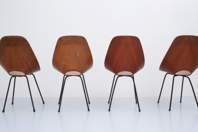 Set of 4 'Medea' Diningchairs by Vitorio Nobili for Fratelli Tagliabue in teak and metal, Italy, 1955