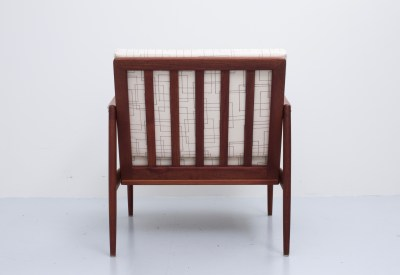 'Kandidaten' Chair by Ib-Kofod Larsen in Teak and Fabric for OPE, Sweden, 1960's