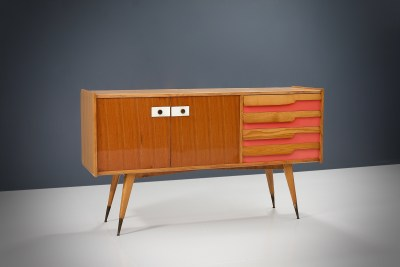 Credenza in Wood, Laminate and Brass by Gio Ponti (attr.), Italy, 1960's