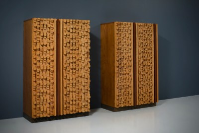Cabinets by sculptor D'Amico_wood_signed and dated_19745H0A4786HR_zeger van Olden_mid century_mid century modern_amsterdam_italian_scandinavian