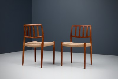 Dining Chairs by Niels Otto Moller_Teak and newly upholstered_Danish Corc_Denmark_1960s5H0A4283_zeger van Olden_mid century_mid century modern_amsterdam_italian_scandinavian