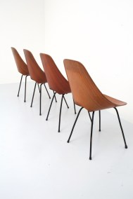 Dining Chairs 'Medea' by Vitorio Nobili for Fratelli Tagliabue_teak and metal_Italy_19555H0A9156_zeger van Olden_mid century_mid century modern_amsterdam_italian_scandinavian