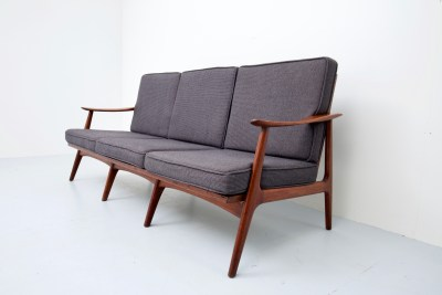 Sofa_Three seater_patinated Oak and Fabric_Italy_1960s5H0A2838_zeger van Olden_mid century_mid century modern_amsterdam_italian_scandinavian