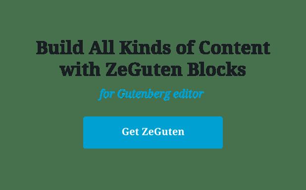 ZeGuten — Blocks for Gutenberg - 9