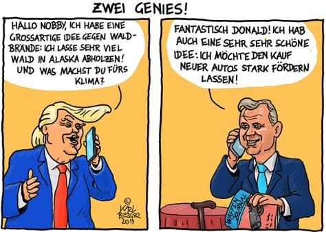 Trump und Hofer kümmern sich ums Klima.