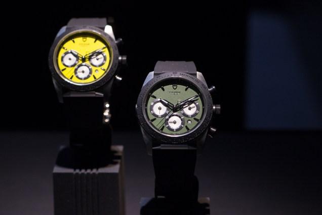 Neue Tudor-Chronographen – in Farben und Ausführungen, die man beim Mutterkonzern Rolex eher nicht findet. Hier die Fast Rider Chronos (Preis ab ca. 3.700 Euro)