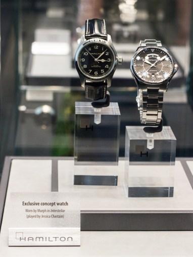 """Hollywood-Flair: Filmuhren bei Hamilton. Laut eigenen Angaben hat das Unternehmen bereits 400 Filmproduktionen mit Uhren ausgestattet. Unter anderem auch """"Men in Black"""". Hier ein Modell, das im Film """"Interstellar"""" zu sehen war."""