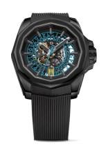 Corum Admiral - AC-ONE 45mm - Skeleton Titan PVD Schwarz, Kautschukband Skelettiertes Automatikwerk blaue Datumscheibe Limitiert 9.950 €