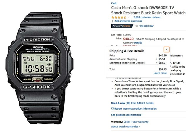 CASIO G-Shock DW 5600 amazon.com