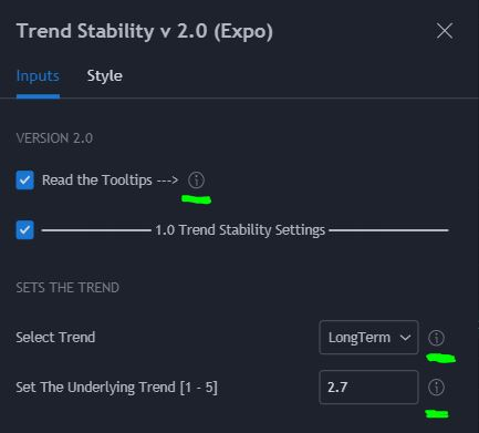 Trend Stability ToolTip