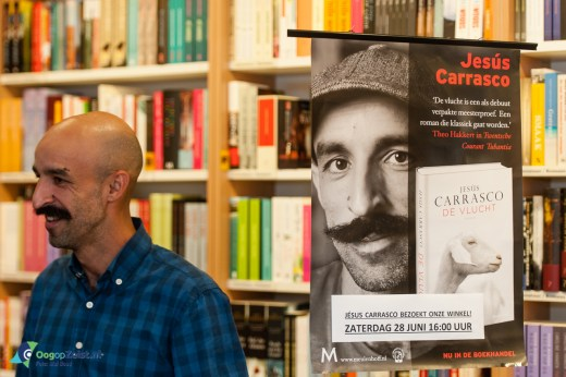 Jesus Carrasco signeert bij boekhandel Kramer en van Doorn