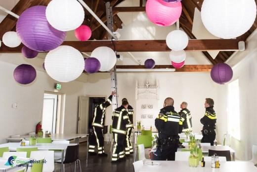 De Brandweer neemt geen risico bij gebouwbrand bij de huisartsenopleiding aan de het broederplein