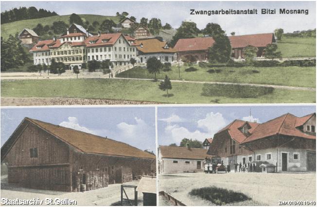 Arbeitserziehungsanstalt Bitzi bei Mosnang, 1919