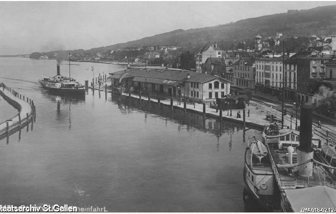 Rorschach, Hafen und Hafenbahnhof um 1910