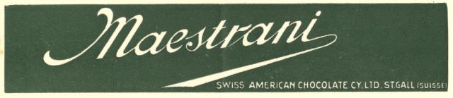 Briefkopf Maestrani in St.Gallen, 1912