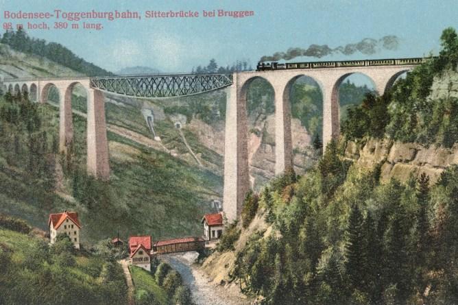 Zug auf Sitterbrücke