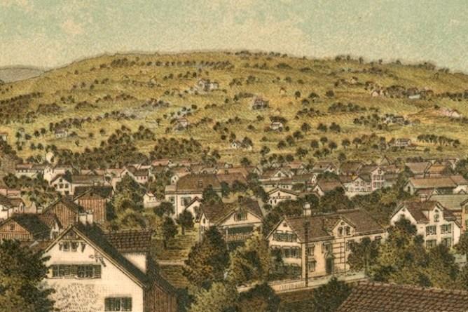 Auszug aus Ansichtskarte zu Grabs, vor 1907