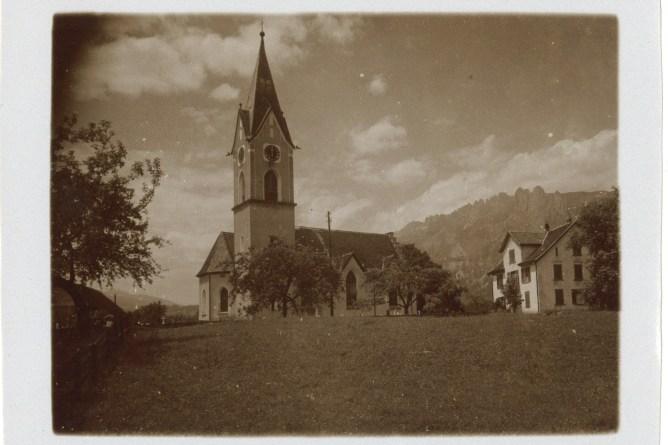Kirche Salez, um 1920