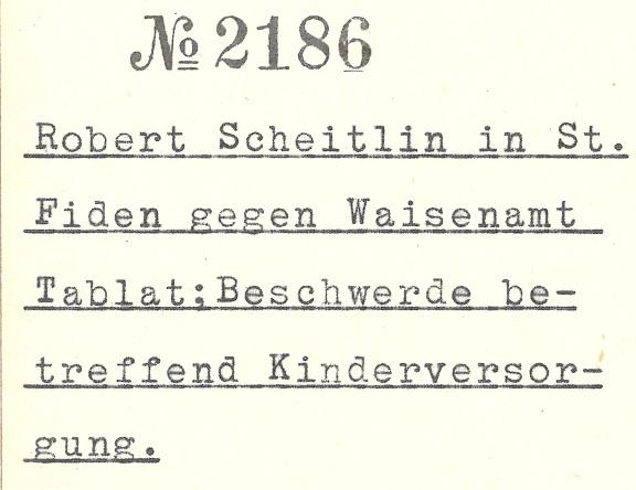 Regierungsratsbeschluss 2186