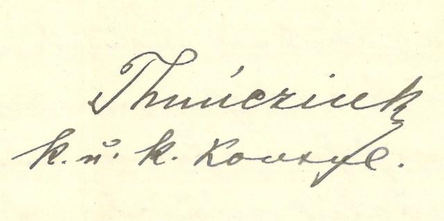 Unterschrift Konsul