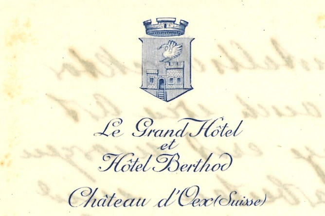 Briefpapier Grand Hotel