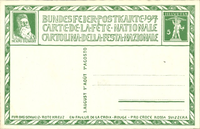 Bundesfeierkarte Rückseite