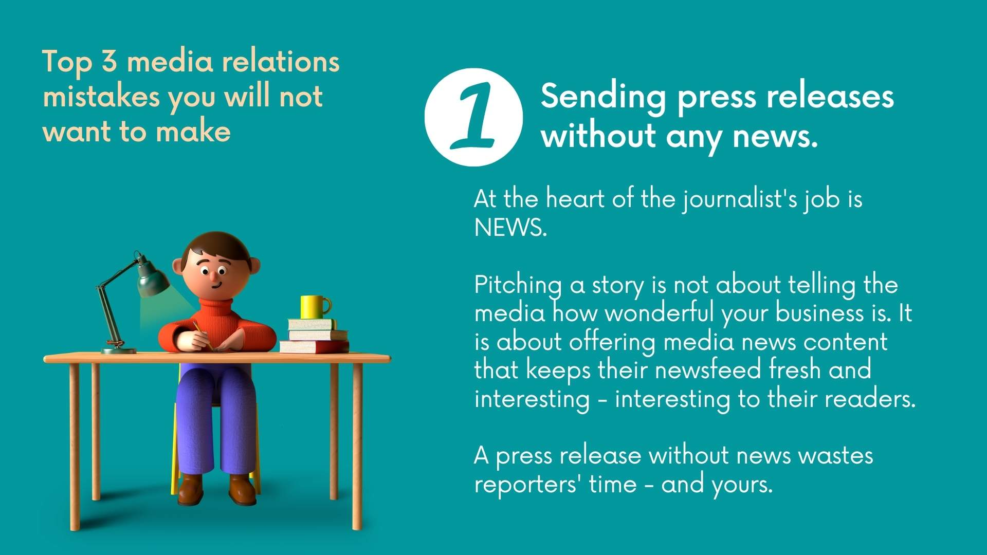 3 top Media Relations mistakes you will not want to make