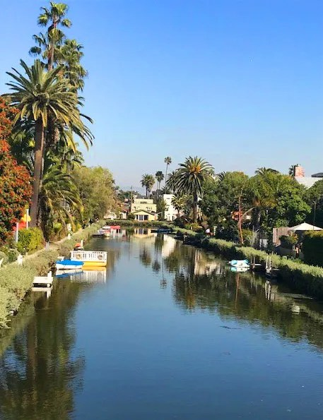 Venice Kanal in Los Angeles, USA. Zeitlupe