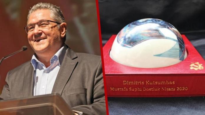 TKP verleiht Dimitris Koutsoumbas den Freundschaftspreis