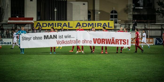 SK Vorwärts setzt ein Zeichen gegen die Schließung von MANSteyr