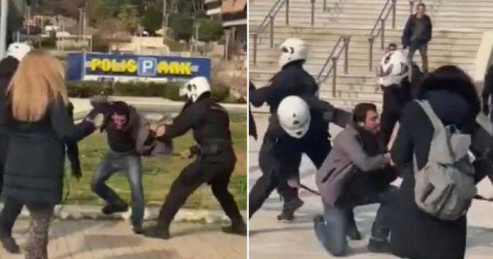 Polizeibrutalität in Griechenland